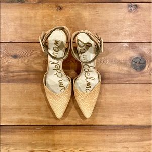 Sam Edelman Okala Pointed Toe Ankle Strap Heels